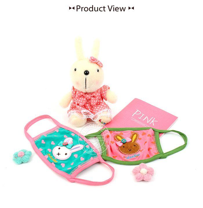 韓國winghouse小兔子兒童純棉口罩(R1486)M(4~6歲)