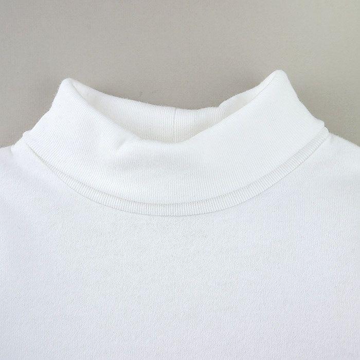 反折領長袖包屁衣-素色白