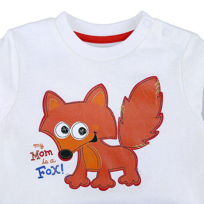 卡哇依小狐狸長袖包屁衣-米