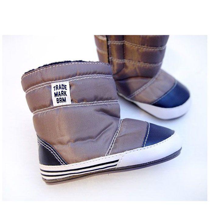 淺咖啡棕寶寶鞋/嬰兒鞋/學步鞋(環保TPR鞋底)