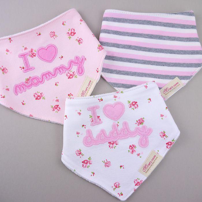 【特價】三角領巾‧口水巾 (三條組)-我愛媽咪