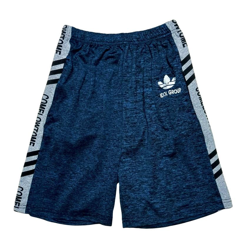 大童短褲-灰藍