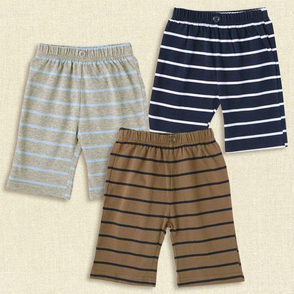 西松屋藍白橫條紋七分褲【NO.5058】(80)