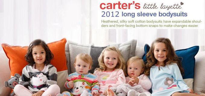 Carter's翠綠刺繡長袖包屁衣(3M)